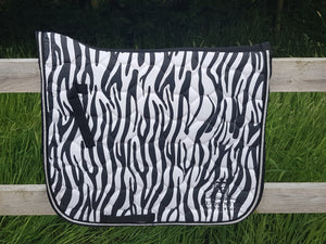 Dressage Saddle Pad - Zebra print with black edging
