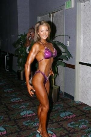 Jen Comas on the day of her figure show