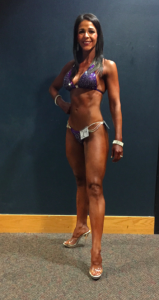 Rachel looking lean and tan on show day!