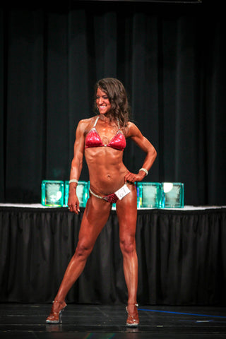 Competing in a NANBF show in May 2015 - front shot