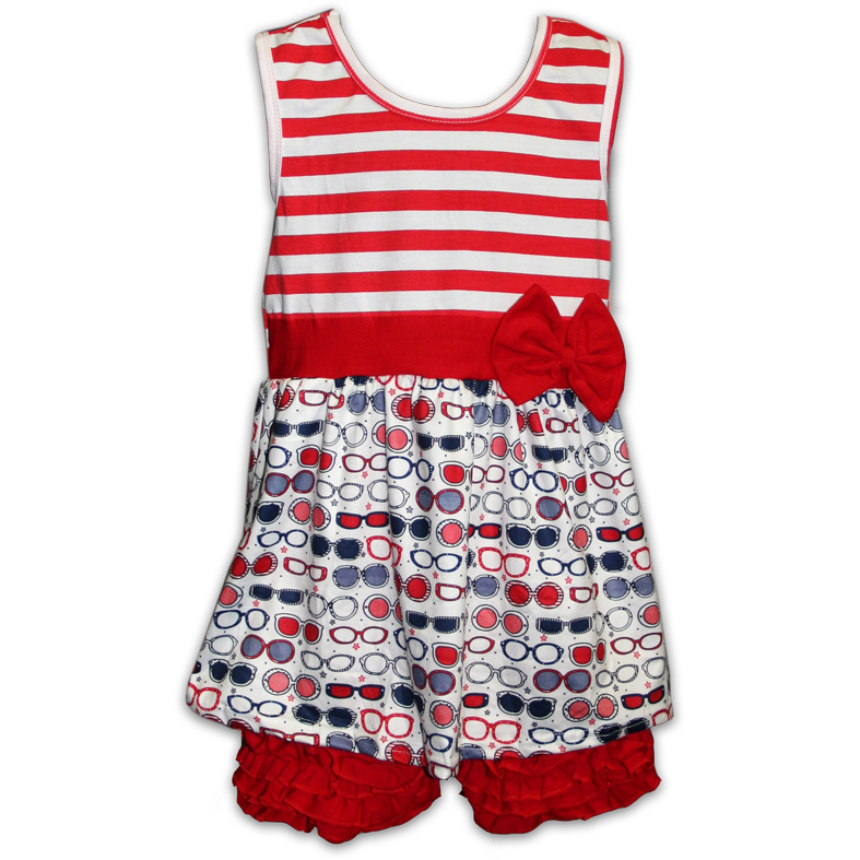 Patriotic Dress with Shorts