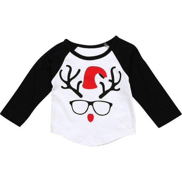 Reindeer with Glasses Tee for Babies