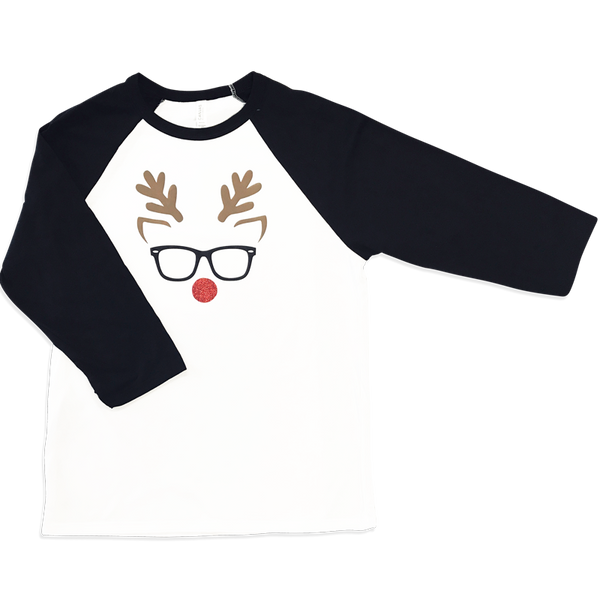 Reindeer with Glasses Tee for the Family