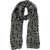 Black Glasses Print Lightweight Scarf