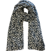 Dark Grey Glasses Print Lightweight Scarf