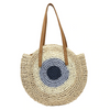 Round Eye Straw Bag