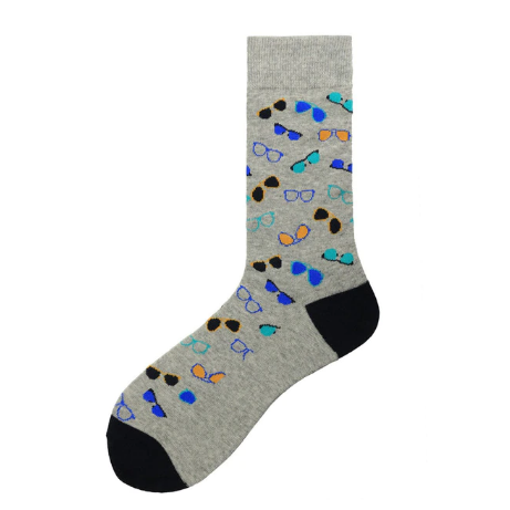 Women's Colorful Glasses Socks