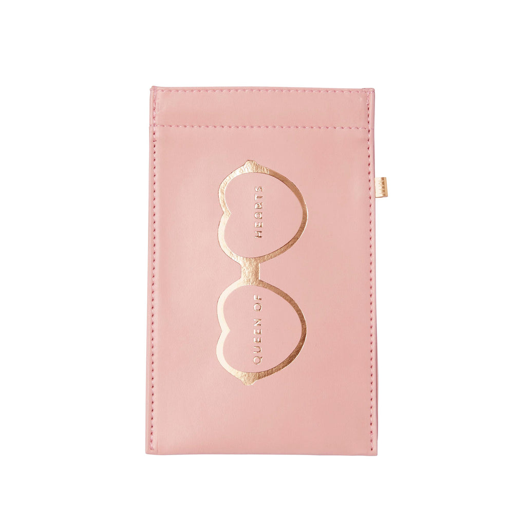 This leatherette glasses pouch with foil accents has a metallic gold printed liner, and it is the perfect gift for an optometrist, ophthalmologist or optician!