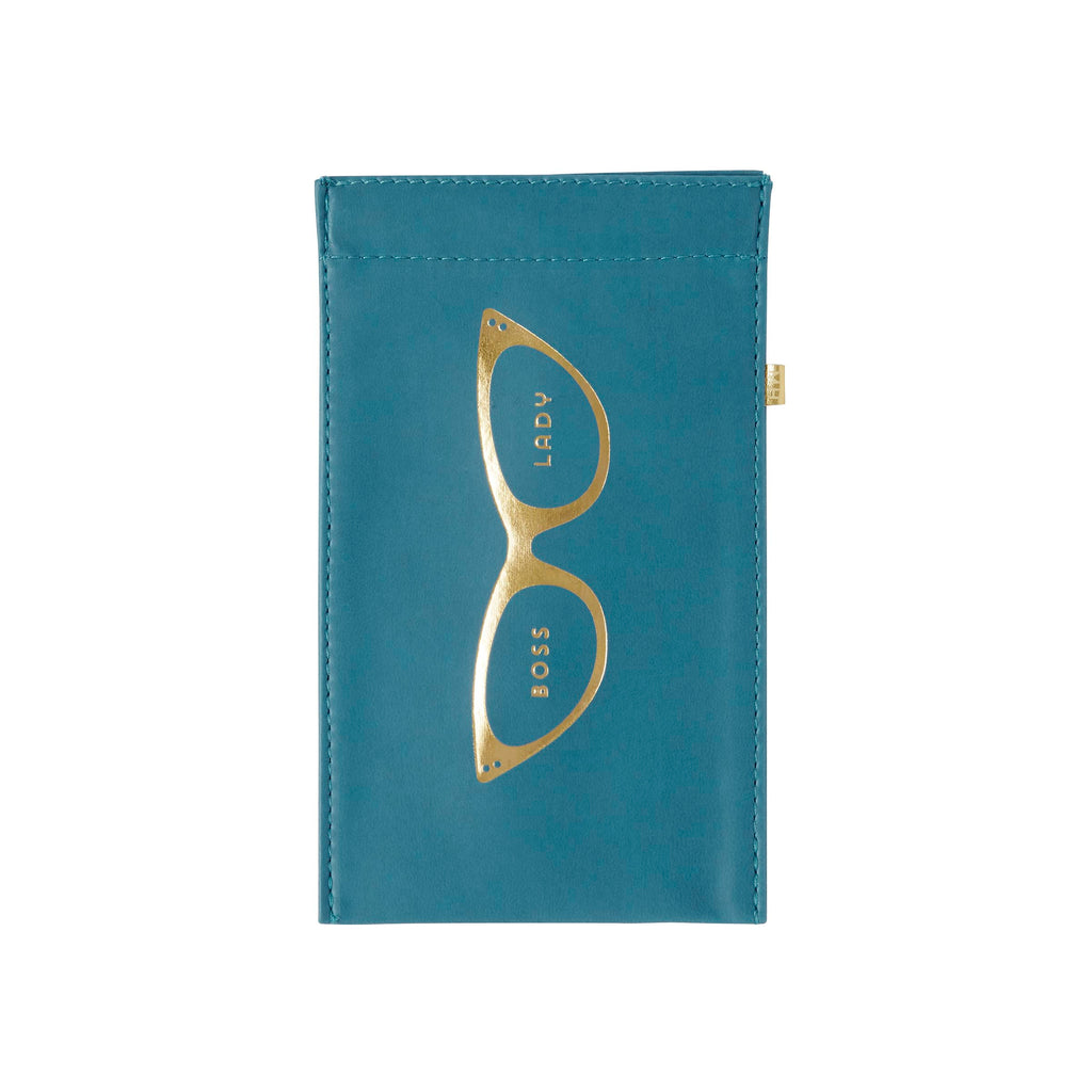 This leatherette glasses pouch with foil accents would make the perfect gift for the female optometrist, ophthalmologist, or optician in charge!