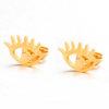 Eye & Lashes Stud Fashion Earrings