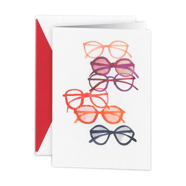 Glasses note cards for opticians, optometrists and ophthalmologists.