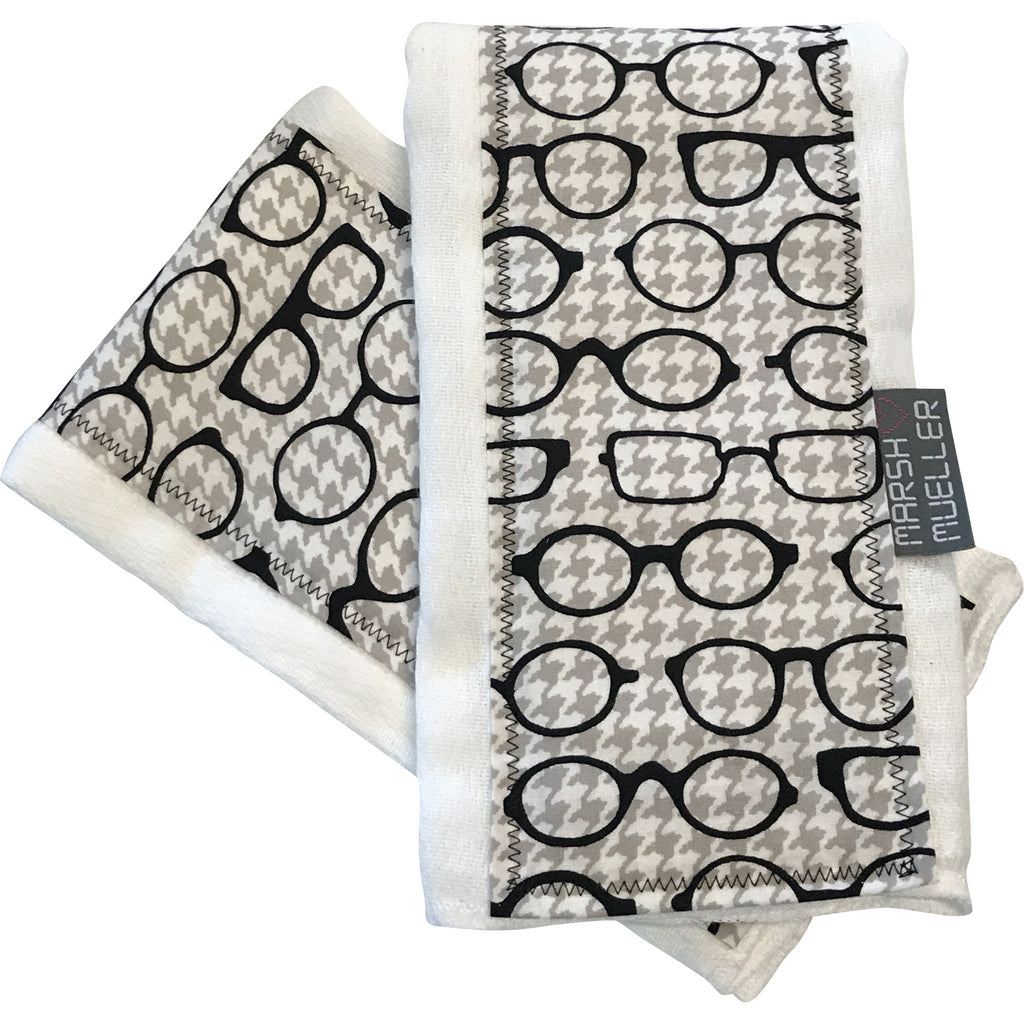 Burp Cloth Set - Black & White