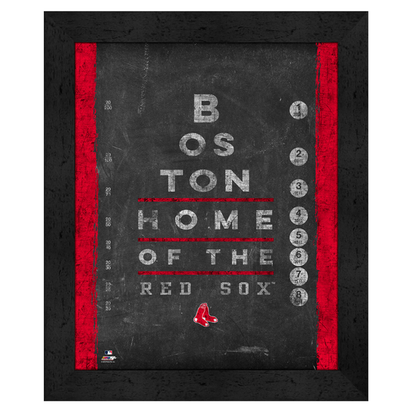 MLB Framed Eye Chart