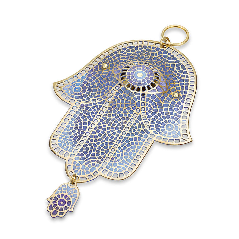 Purple wall Hamsa by Orit Grader