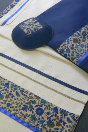 Floral Tallit Set by Eretz Judaica