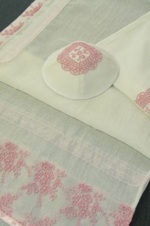 Pink Tallit Set by Eretz Judaica