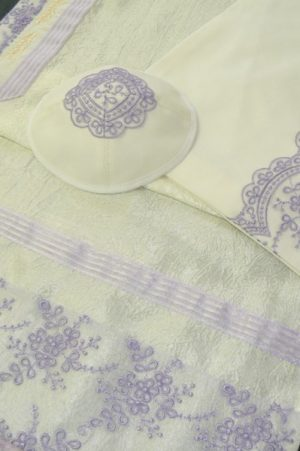 Purple Tallit Set by Eretz Judaica