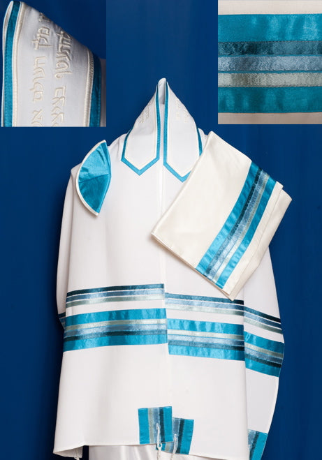 Three-Piece Tallit Set for Women ADE-933 by Michelle Judaica