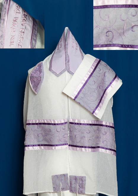 Three-Piece Tallit Set for Women ADE-962 by Michelle Judaica