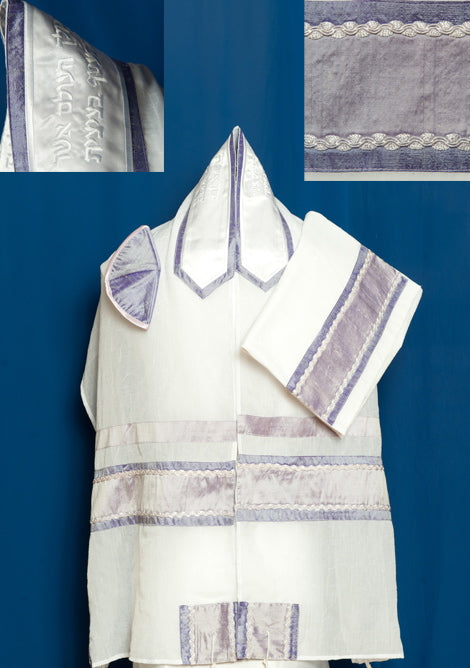Lavender Chiffon Tallit Set by Michelle Judaica