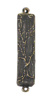 Mezuzah Tree of Life Small, Oxidized Bronze by Ruth Shapiro