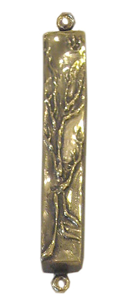 Mezuzah Tree of Life Tall, Bronze by Ruth Shapiro