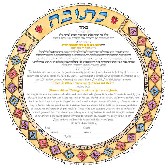 Circle of Rome 2 Ketubah by Marion Zimmer