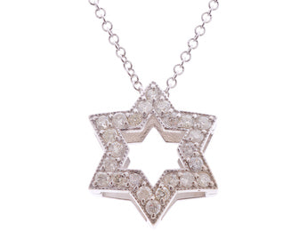 Small Pave Star of David Necklace FS603B BET