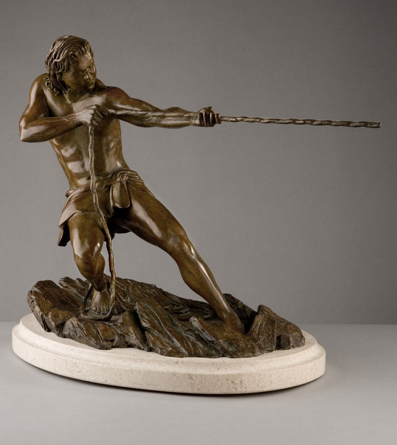 The Struggle - Sculpture in Bronze by Alon Dori
