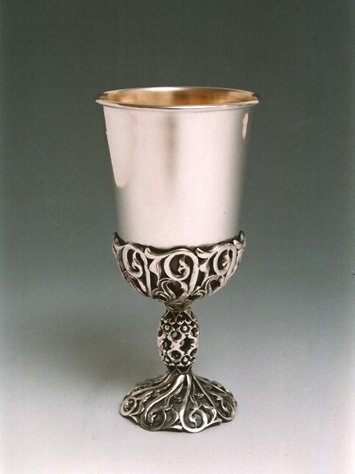 Kiddush Cup Sterling Silver 013 by Dabbah