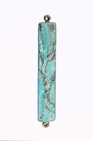 Mezuzah Tree of Life Patina Tall by Ruth Shapiro