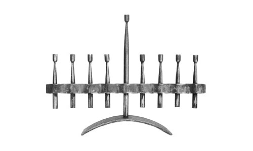 Ribbon Menorah by Blackthorne Forge