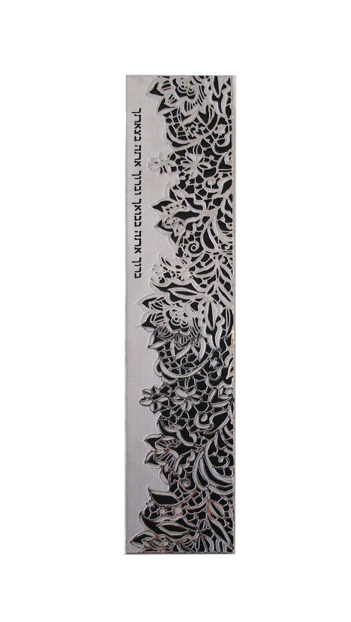Blessing Stainless Steel Mezuzah - Large by Metalace Art