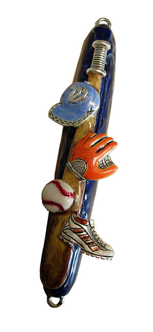 Mezuzah Sports - Baseball Blue & Silver - 47A by Quest Gifts