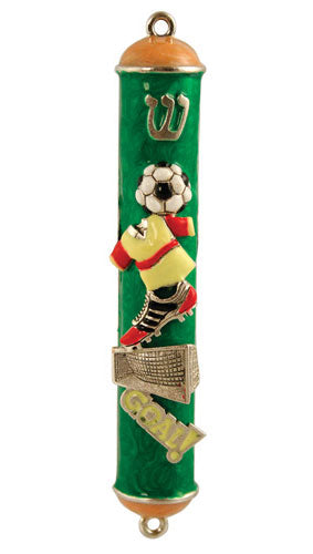 Soccer Mezuzah by Quest Collection