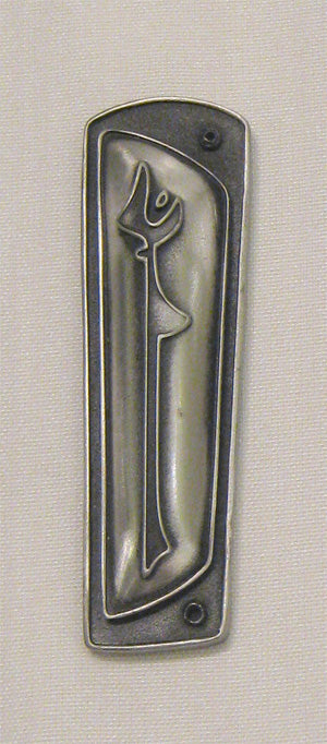 Upstanding Woman Mezuzah - Bronze Finish by Aimee Golant