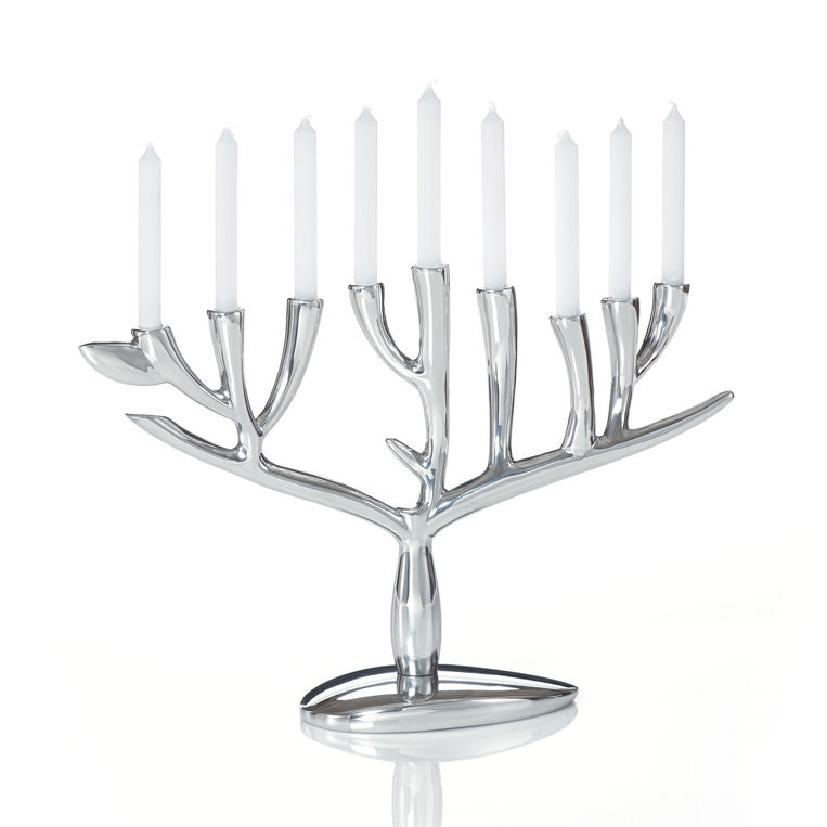Tree of Life Menorah by Nambe