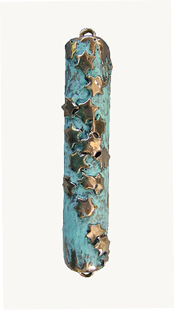 Mezuzah Multistar Patina by Ruth Shapiro