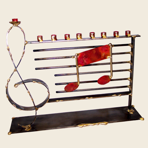 Large Music Menorah A67 by Gary Rosenthal