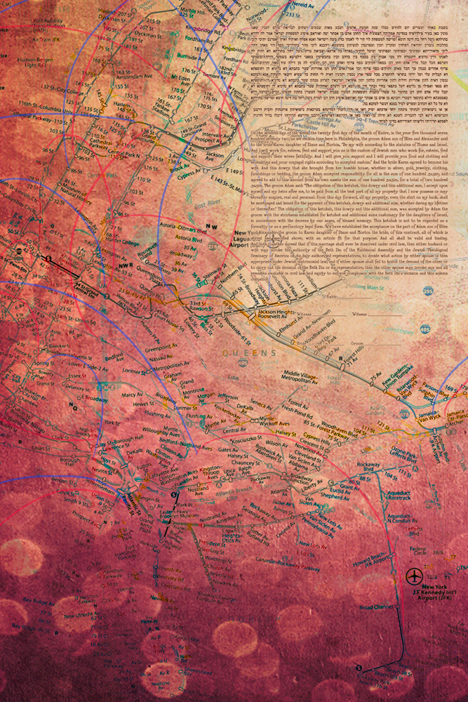The New York Map Ketubah by This is Not a Ketubah
