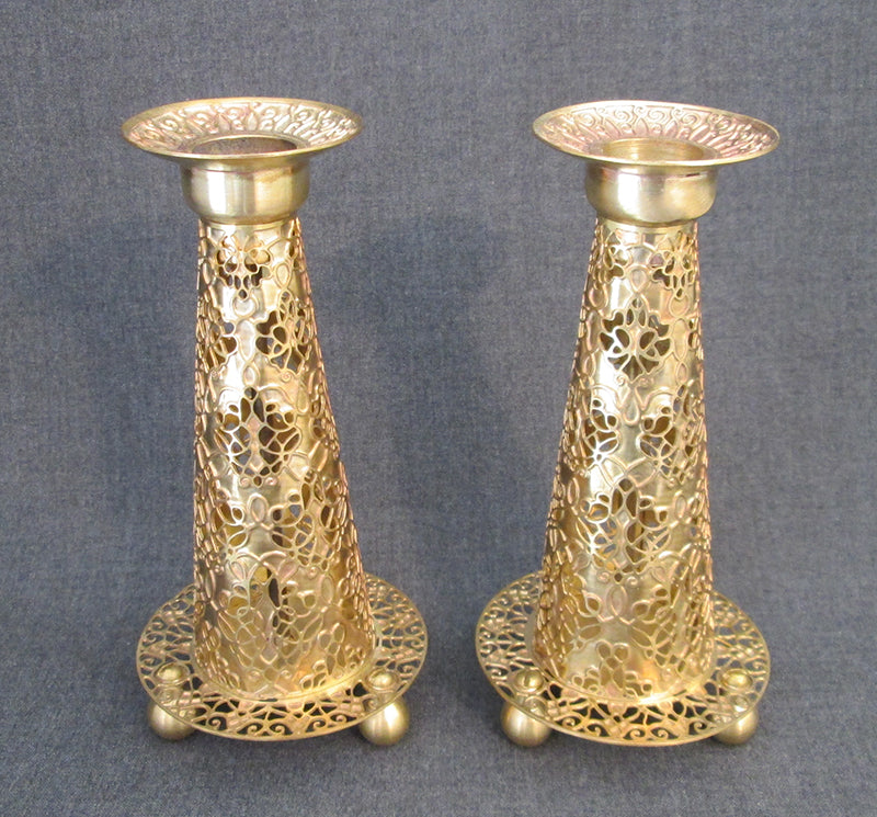 "Candlesticks - ""Fuji"" Brass Candlesticks"