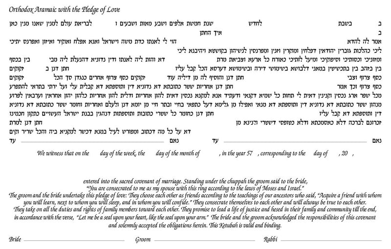 Two Trees Ketubah - No Backing - by Enya Keshet