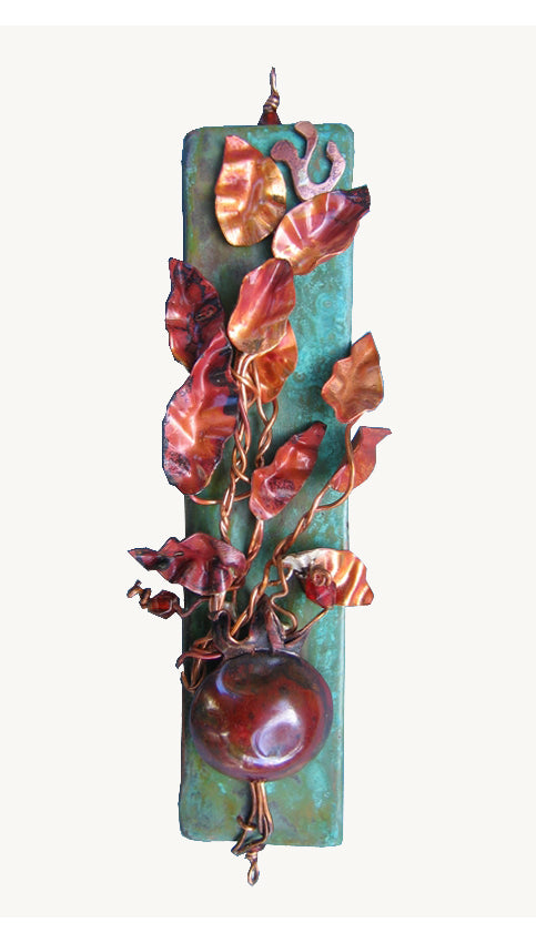Mezuzah Pomegranate by Ruth Shapiro