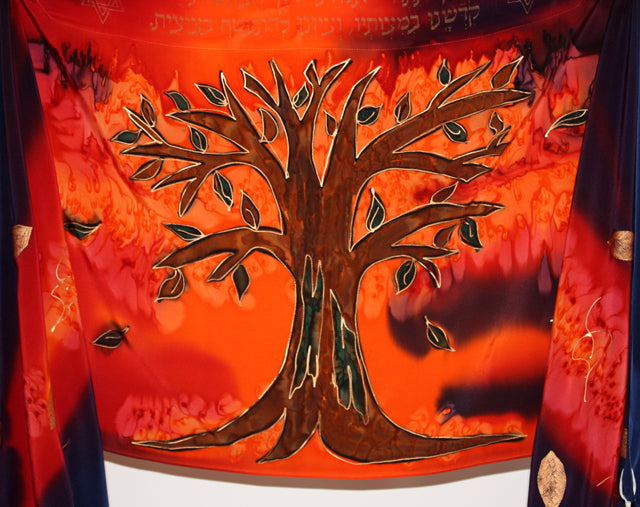 The Tree of Life Tallit Set - Sunset