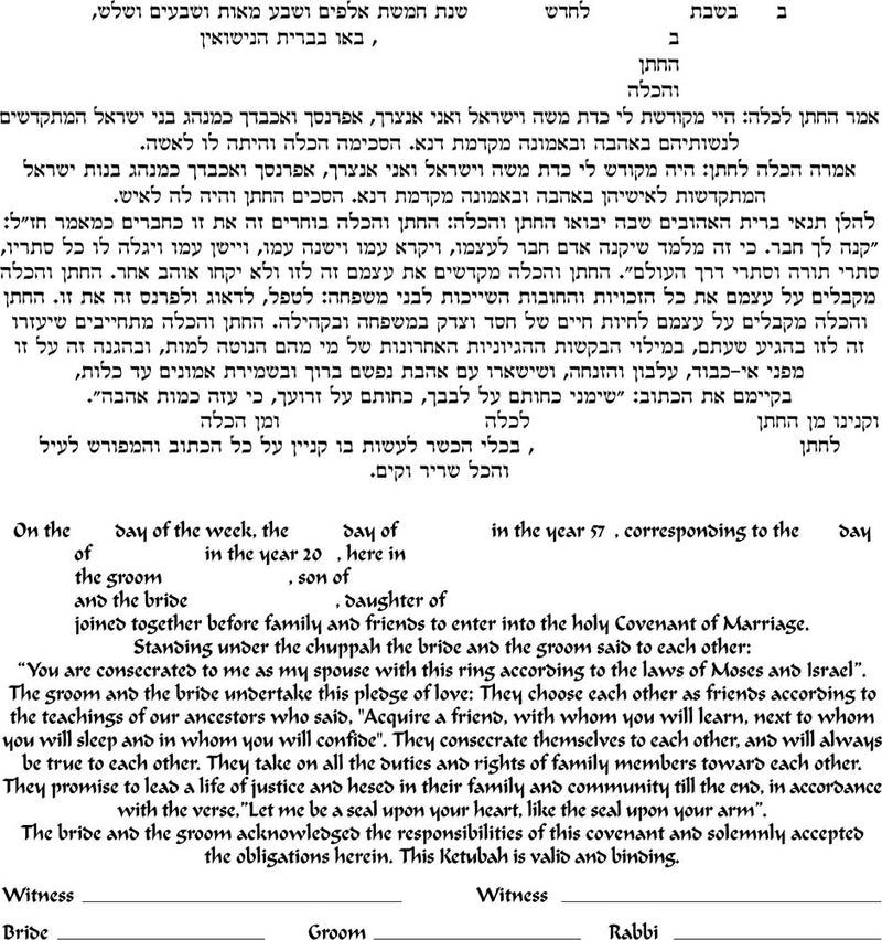 Small - Seven Species Ketubah, No Backing by Enya Keshet