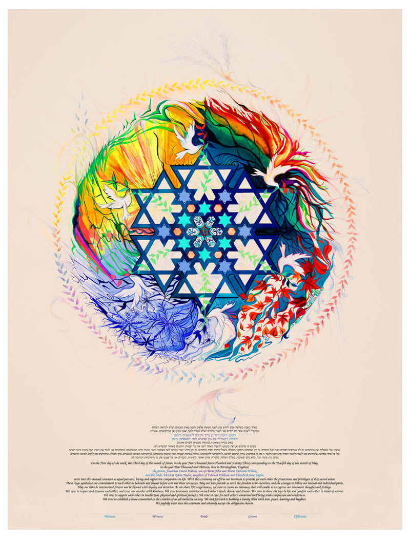 Seasons Ketubah by Nava Shoham