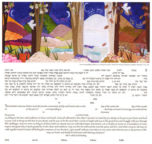 Seasons Ketubah by Jackie Olenick