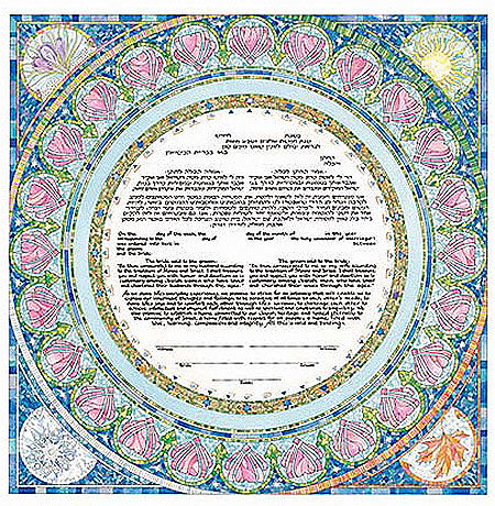 Seasons Ketubah by Mickie Caspi