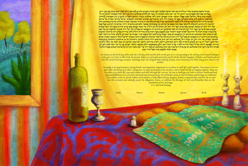 Shabbat Light Ketubah by This is Not a Ketubah