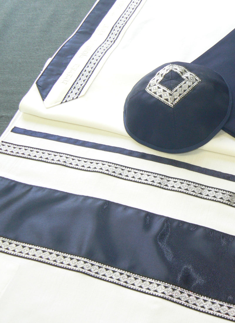 Men's Classic Wool Tallit by Eretz Judaica